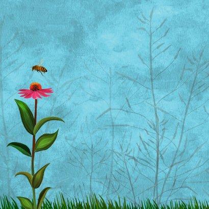 Bloemen en een kwikstaart 2
