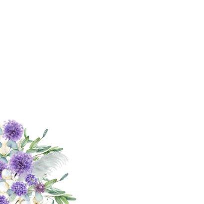 Bloemen in paars eucalyptus 2