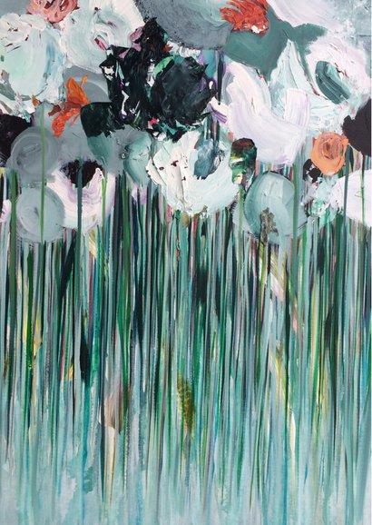 Bloemen Morgen schilderij 2