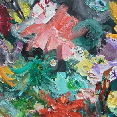 Bloemen schilderij iets fraais 2