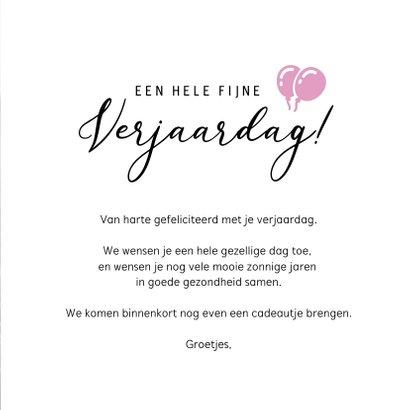 Bloemen verjaardagskaart met foto van paarse heide  3