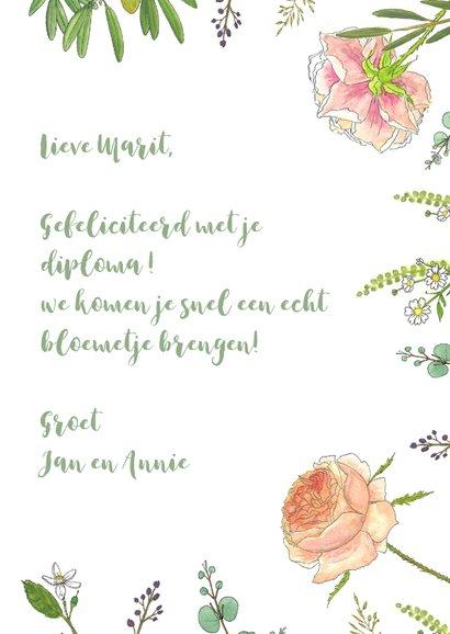 Bloemenkaart aquarel  rozen 3