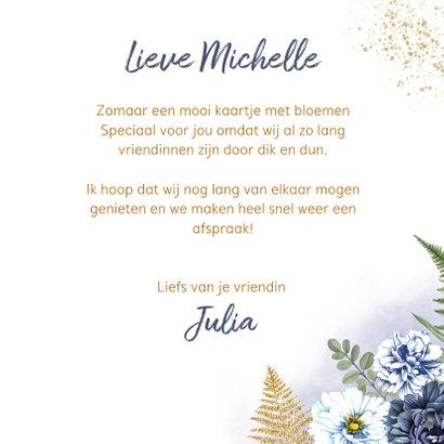 Bloemenkaart blauwe rozen 3