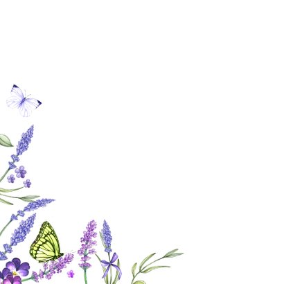 Bloemenkaart lavendel zomer 2