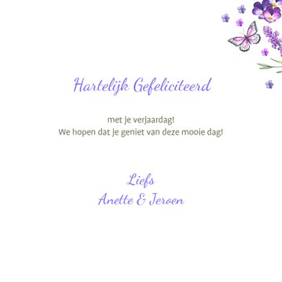 Bloemenkaart lavendel zomer 3