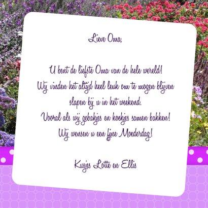 Bloemenkaart Liefste Oma - BK 3