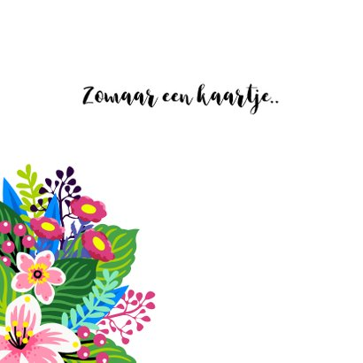 Bloemenkaart met illustratie van een kleurrijk boeket 2