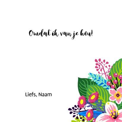 Bloemenkaart met illustratie van een kleurrijk boeket 3