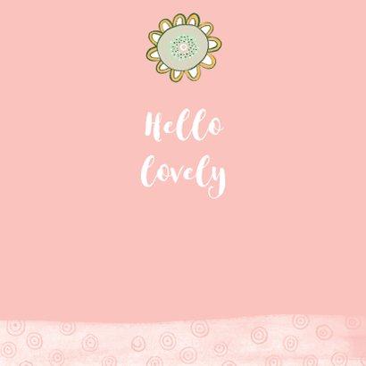 Bloemenkaart plant gezichtje roze - MW 3