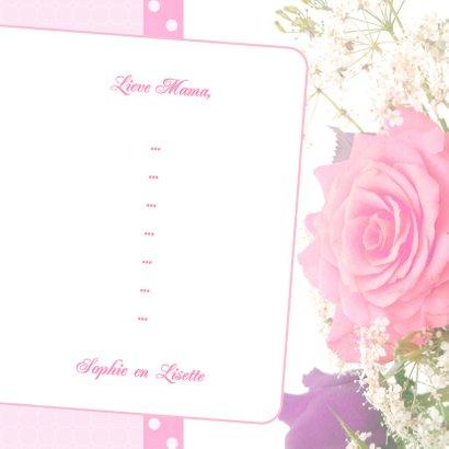 Bloemenkaart Roos Mama - BK 3
