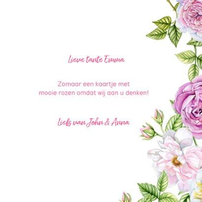 Bloemenkaart rozen pastel 3