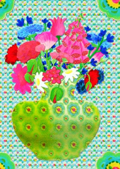 Bloemenkaart Vaas Gebloemd PA 2