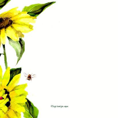Bloemenkaart Vrolijke zonnebloemen 2