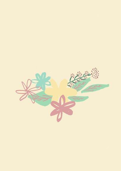 Bloemenkrans Blanco kaart 2