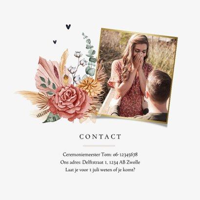 Bohemian bruiloft uitnodiging trouwen bloemen dagprogramma 2