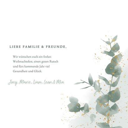 Botanisch Weihnachtskarte mit Wasserfarbe und Zweig 3