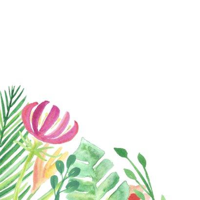 Botanische bloemen verjaardagskaart 2