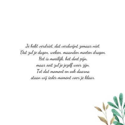 Botanische condoleancencekaart 3
