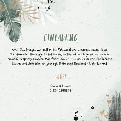 Botanische Einladungskarte zur Einweihung mit eigenen Fotos 3