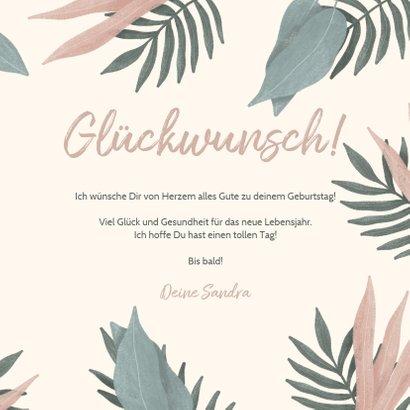 Botanische Glückwunschkarte zum Geburtstag mit Foto innen 3