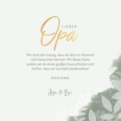 Botanische Grußkarte 'Für den besten Opa' Foto innen 3