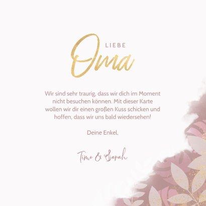 Botanische Grußkarte 'Für die liebste Oma' Foto innen 3