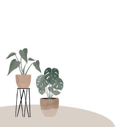 Botanische kaart nieuwe woning met plantenillustratie 2