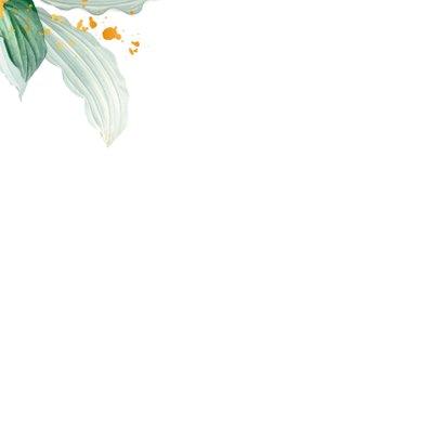 Botanische kaart 'Thank you'  2