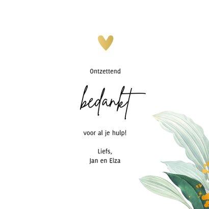 Botanische kaart 'Thank you'  3