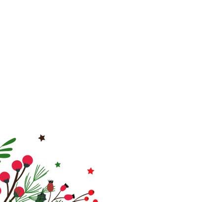 Botanische kerstkaart merry christmas 2