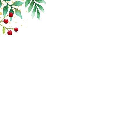Botanische kerstkaart met goudlook 2