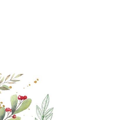 Botanische kerstkaart met vogel 2