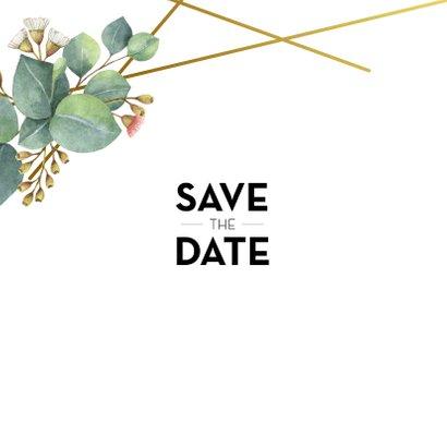 Botanische save the date kaart 2