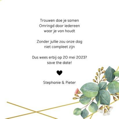 Botanische save the date kaart 3