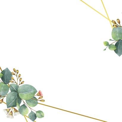Botanische save the date kaart Achterkant