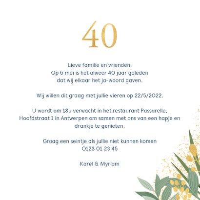 Botanische uitnodiging jubileum 3