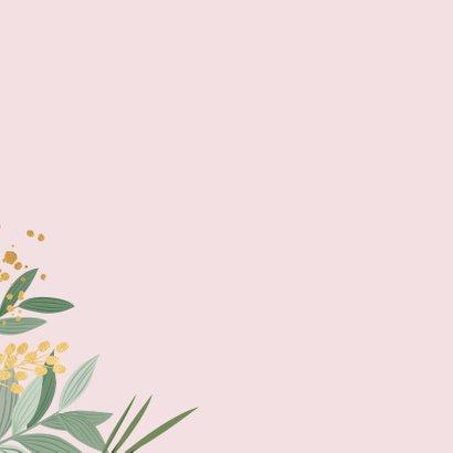 Botanische verjaardagskaart met gouden accenten 2