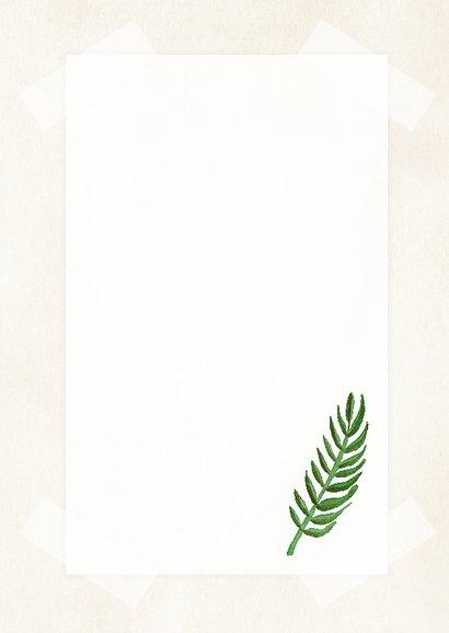 Botanische woonkaart met een illustratie van een blad 3
