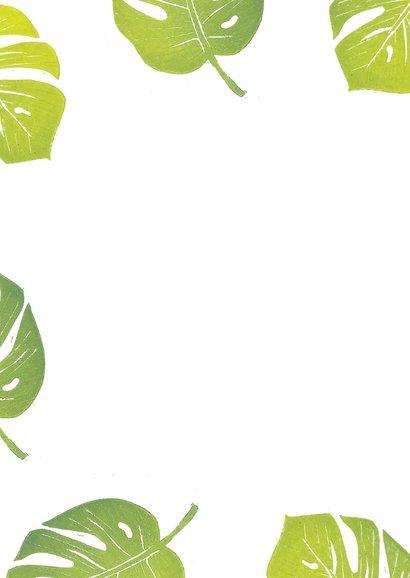 Botanische woonkaart monstera blad 2