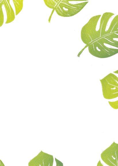 Botanische woonkaart monstera blad 3