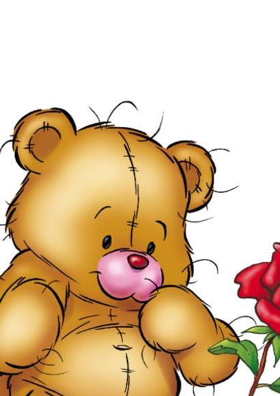bristy moederdag 3 beer roos. 2