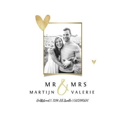Bruiloft change of plans nieuwe datum annuleren hartje goud 2
