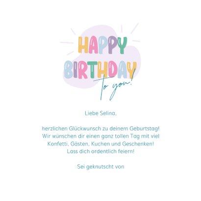 Bunte Geburtstagskarte Happy Birthday 3