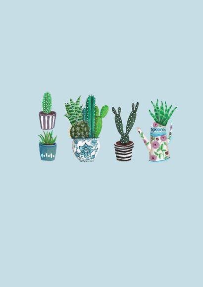 Cactus waterverf Trendy Kaart 2