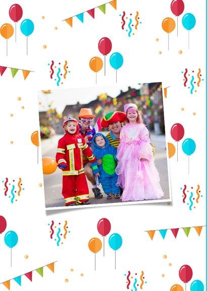 Carnavalskaart feestelijk ballonnen confetti foto 2