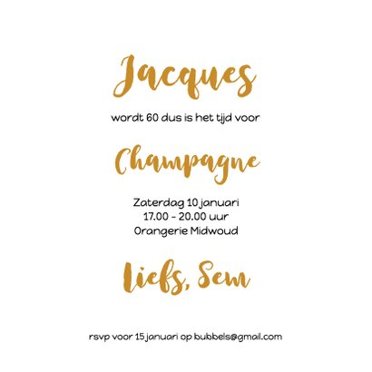 Champagne bubbels met slingers 3