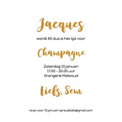 Champagne bubbels met slingers 3