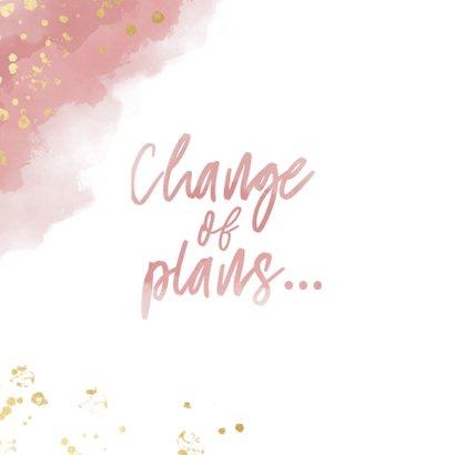 Change-of-plans-Karte Terminänderung rosa 2
