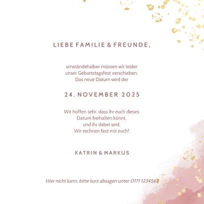Change-of-plans-Karte Terminänderung rosa 3