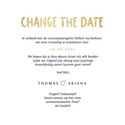 Change the date trouwkaart goud foto tijdlijn 3